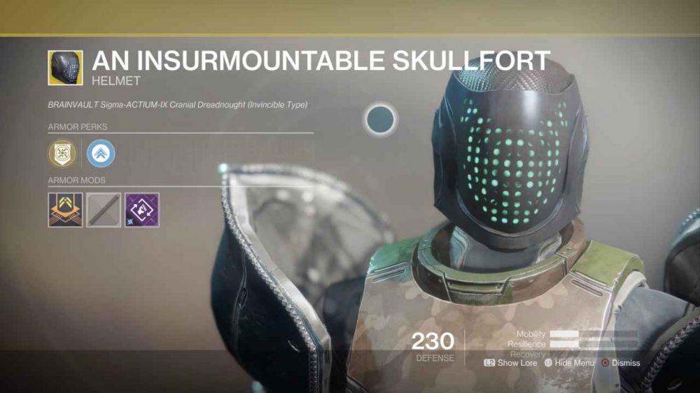 Броня Титана в Destiny 2: Экзотические вещи
