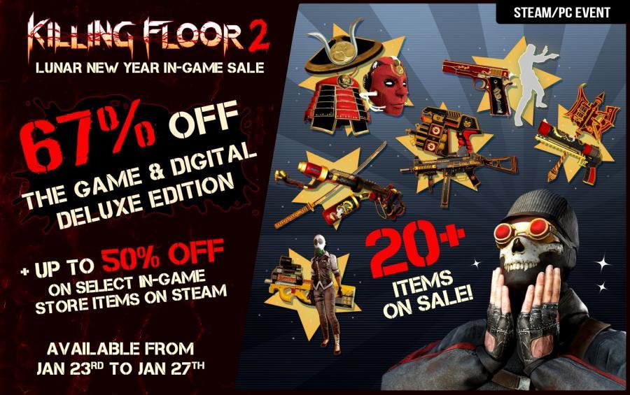 Killing Floor 2 присоединяется к лунной распродаже Steam!