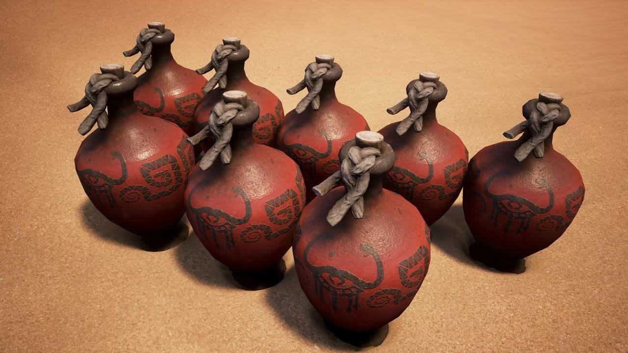 Взрывчатка в Conan Exiles: Горшки, стрелы, и сферы
