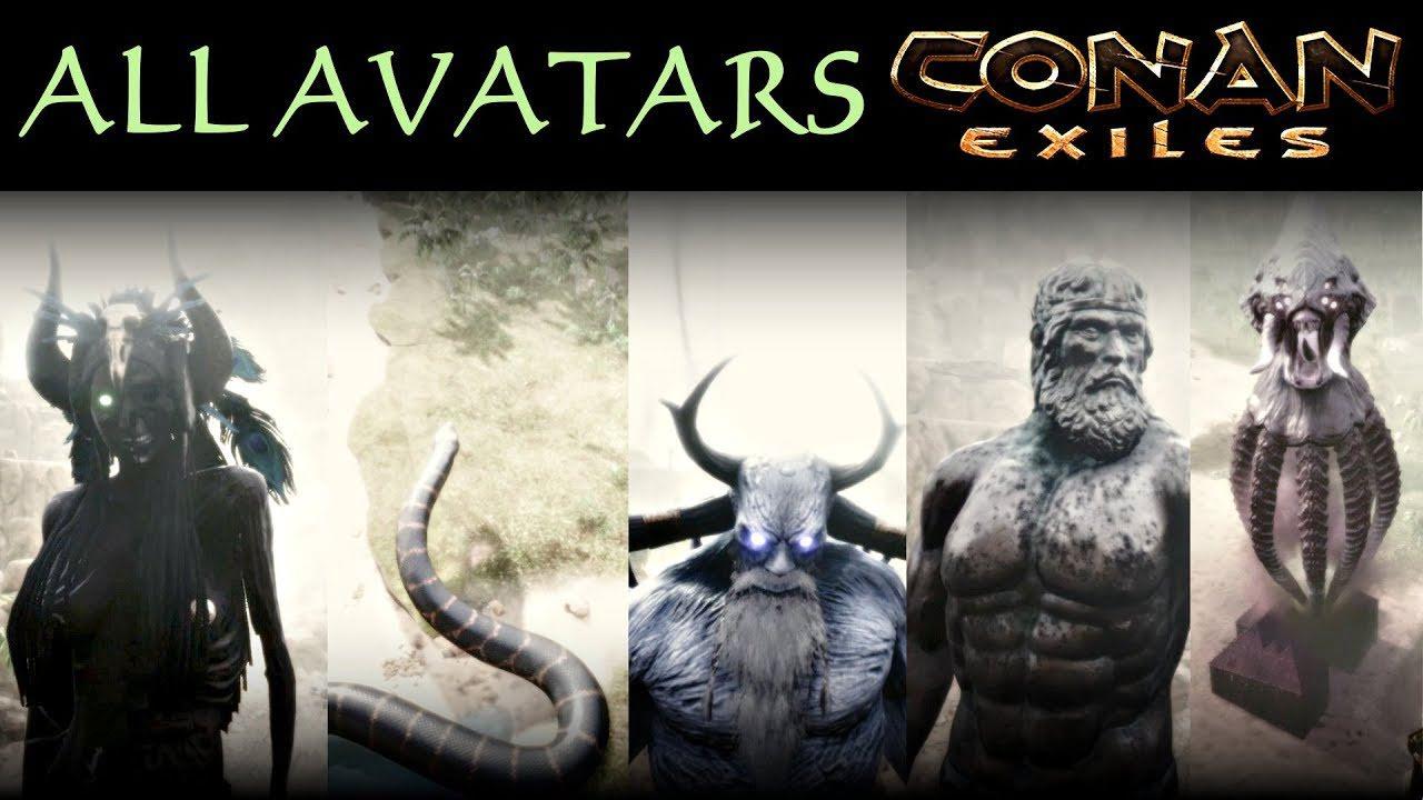 Аватары в Conan Exiles: Возвращение Богов