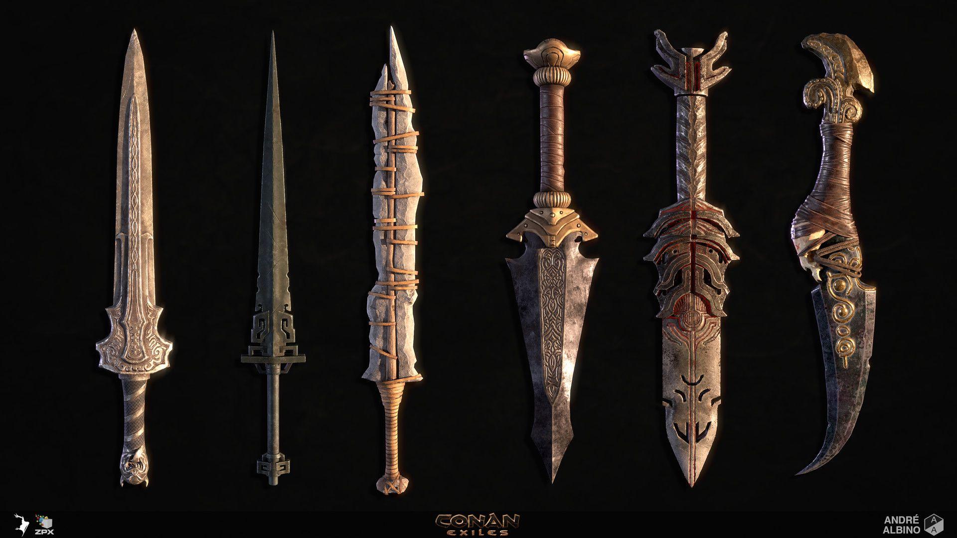 Оружие в Conan Exiles: Кинжалы