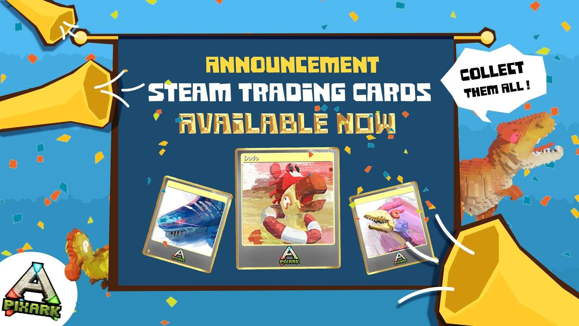 Доступны торговые карточки PixARK Steam!